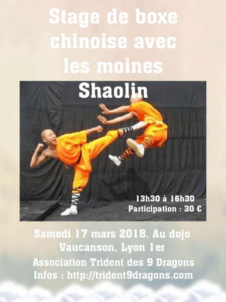 Stage moines Shaolin